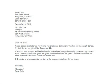 sample teacher resignation letters wzt8u lovely teacher letter