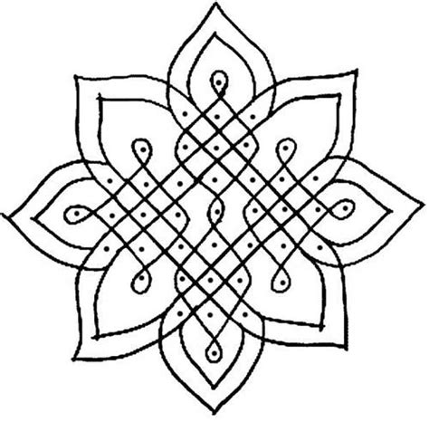 india pattern coloring page rangoli designs with dots easyday