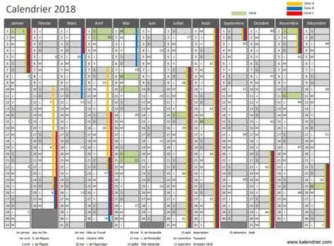 Calendrier 2018 Almanach Calendrier 2018 224 Imprimer Jours F 233 Ri 233 S Vacances