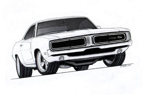 1970 dodge charger drawing 1969 dodge charger r t pro touring drawing by