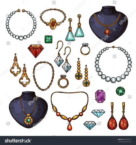 fashion jewelry images illustrations vectors fashion jewelry bijou fashion accessories gemstones golden stock