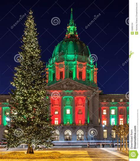 christmas tree lots in san franciso tree at san francisco city stock images image 33995134