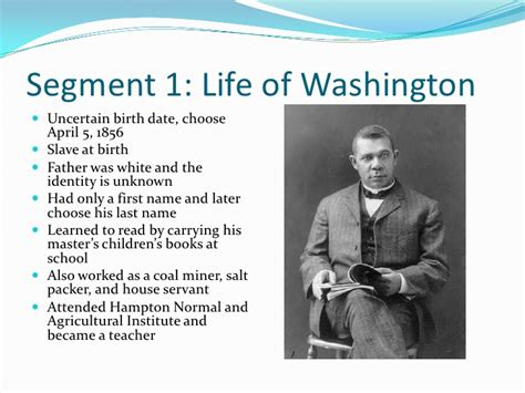 early life of george washington facts booker t washington power point