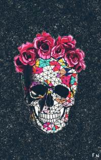 Sugar Skulls With Flowers - wallpapers iphone wallpapers and skulls on pinterest