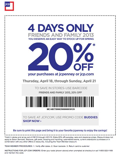 jcpenney outlet coupons printable jcpenney 20 off printable coupon