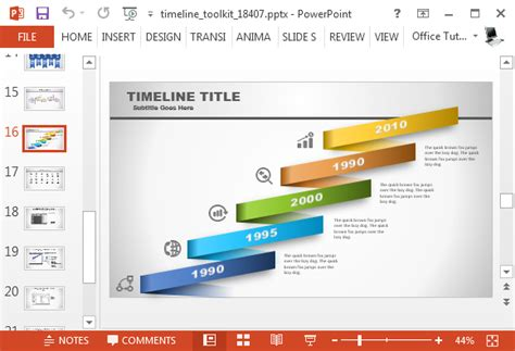 powerpoint layout generator animated timeline generator template for powerpoint
