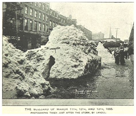the great blizzard of 1888 today in nyc history the great blizzard of 1888