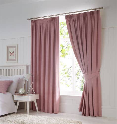 90 inch blackout curtains dijon ready made blackout pencil pleat curtains blush 90