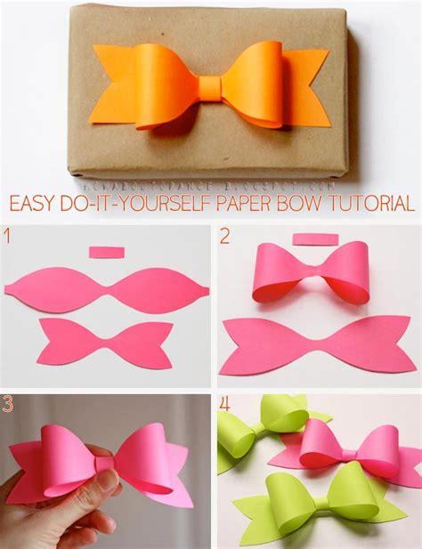 cara bikin bando pita cantik membuat sendiri pita kertas untuk pemanis kado loexie