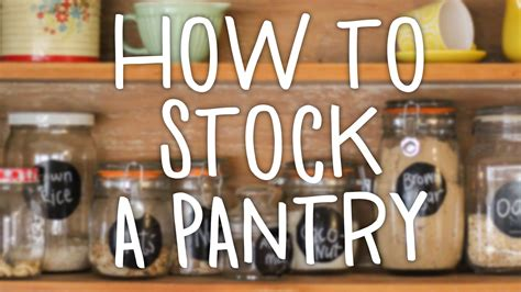 how to stock a pantry hilah cooking