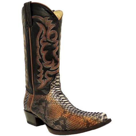 mens snakeskin boots los altos mens black snake skin boot 945788 nib ebay