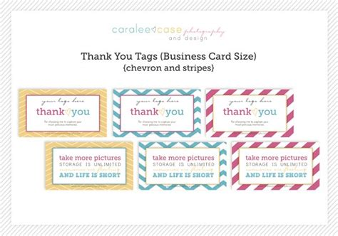 thank you card tag template thank you tags chevron and stripes 171 caralee photography
