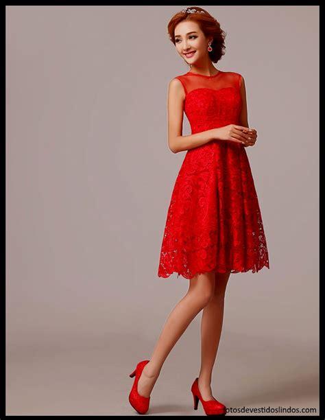 vestidos rojos de encaje cortos vestidos rojos cortos de fotos de vestidos lindos