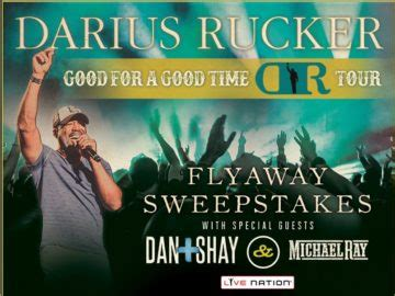 Live Nation Sweepstakes - the darius rucker live nation flyaway sweepstakes