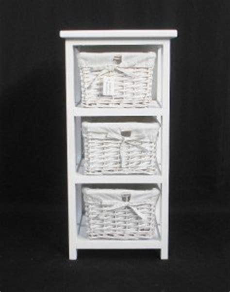 3 Basket Drawer Bathroom Storage Unit Cabinet 3 White Basket Drawer Bathroom Storage Unit Cabinet White