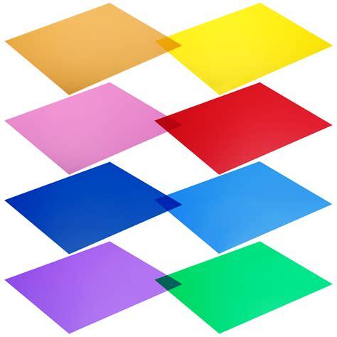 Light Gels by Neewer 12x12 Quot 30x30cm Transparent Color Correction Light Gel Filter Set 8 Pcs