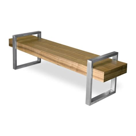 return bench gus modern return bench walnut seating table combo