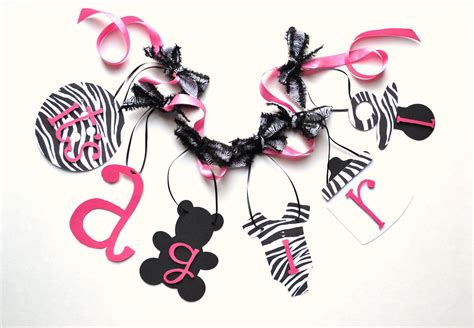Zebra Baby Shower Decorations by Zebra Baby Shower Decorations Pink And Black By