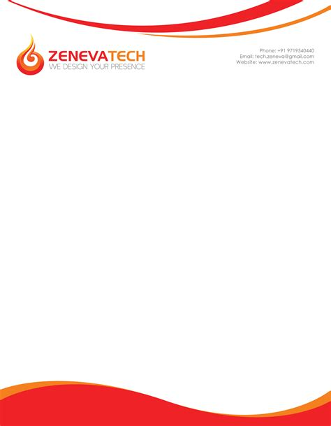 Letterhead India Letterhead Design Zeneva Tech Pvt Ltd Website Design India Webdesigner India Web Design