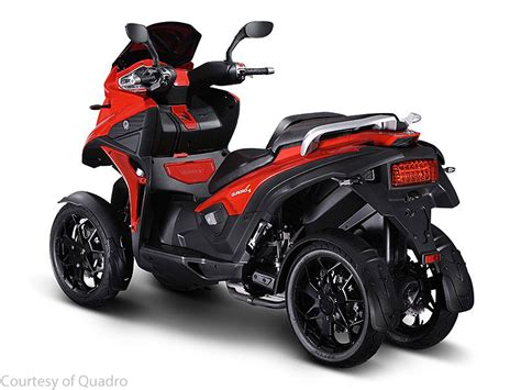 quadro debuts  wheeled tilting scooter motorcycle usa