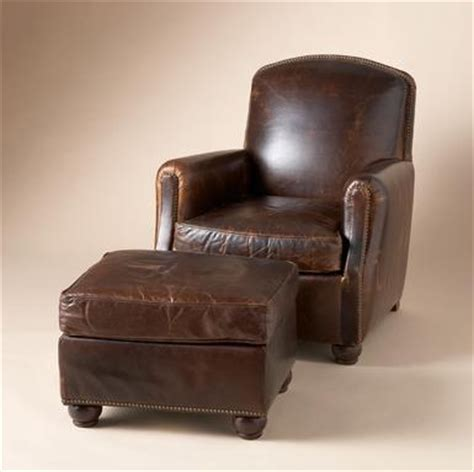 Fremont Chair Ottoman Our Tailored Leather Sumptuous