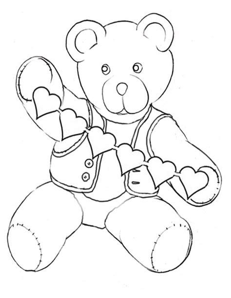 Teddy Bear Valentine Coloring Page | valentine teddy coloring pages teddy bear coloring printables