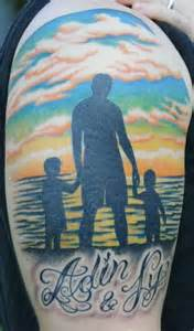 silhouette of dad and children tattoo ideas pinterest