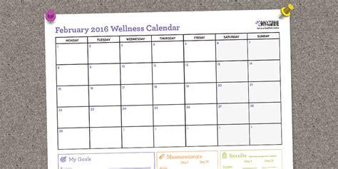 Fitness Calendar February 2016 Blank Fitness Calendar To Maintain Momentum