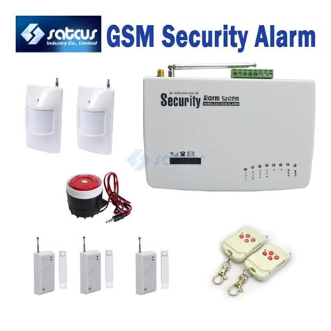 voice prompt wireless home intelligent burglar gsm alarm