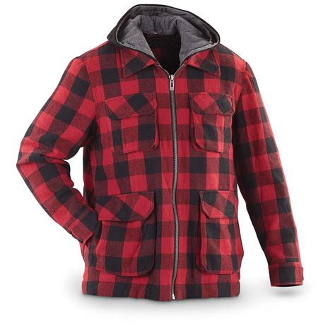 Plaid Coat guide gear 174 plaid work jacket 224756 insulated jackets