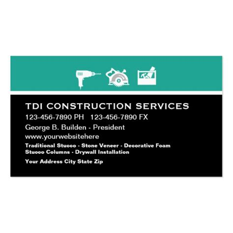 construction business card templates construction business card template zazzle
