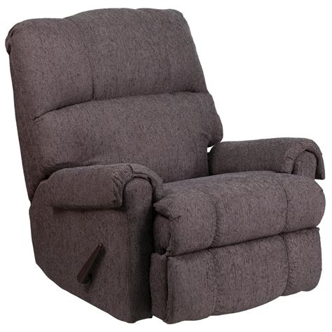 chenille rocker recliner flash furniture contemporary couger gray chenille rocker