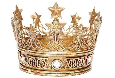 Decorative Crowns by Decorative Crown W Accent Gold