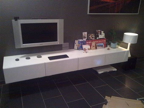 floating besta minimalistic floating tv unit materials besta bench x2