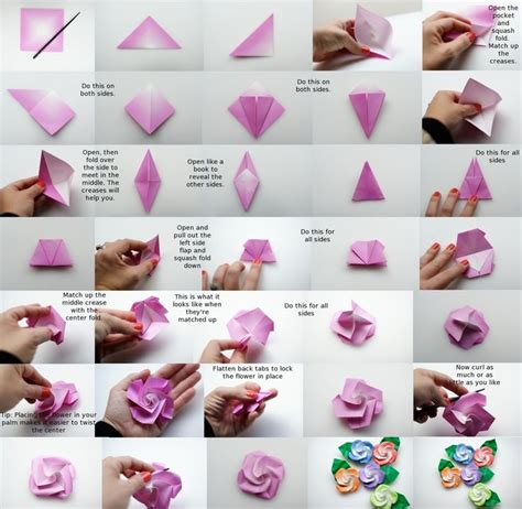 How To Make Paper Roses Step By Step With Pictures - how to make origami roses step by step car interior design