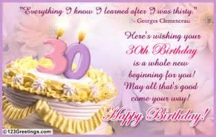 a warm 30th b day wish free milestones ecards greeting cards 123 greetings