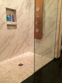 white pebble tile shower floor 30 cool pictures and ideas pebble shower floor tile