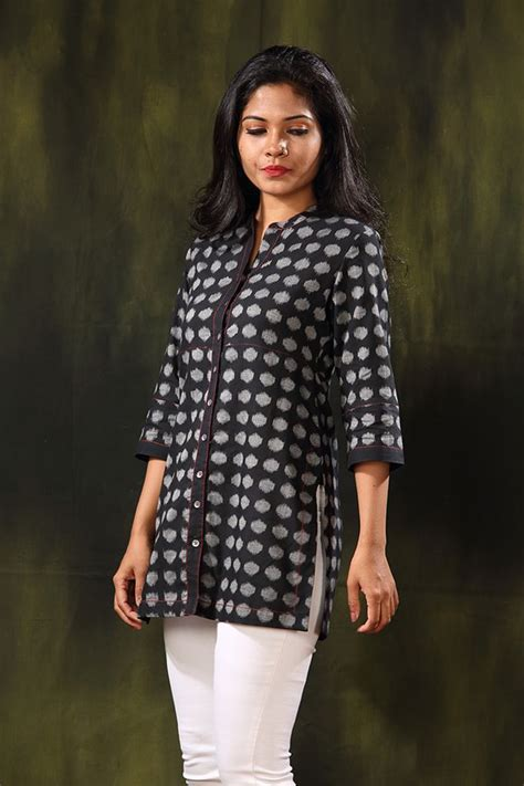 printed trim cotton kurta in brown tjw546 17 best images about tunics on cherries