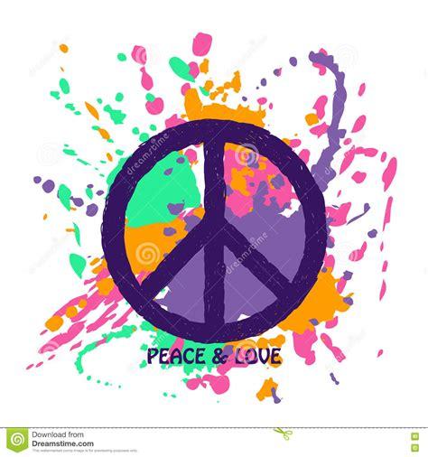 tambores de paz peace signo de la paz sobre fondo colorido del grunge ilustraci 243 n del vector imagen 74210285