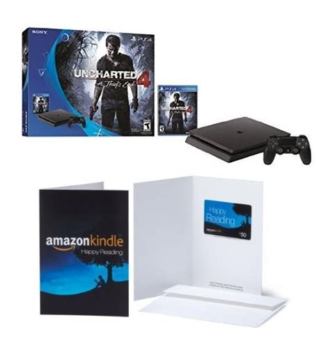 Ps4 Online Gift Card - playstation 4 slim uncharted 4 bundle 50 amazon gift card just 250