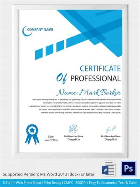 certificate template in word word certificate template 31 free sles