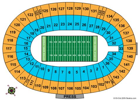 university of texas stadium map university of texas tickets seating chart cotton bowl stadium other