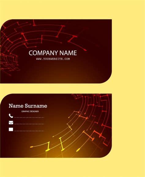 design background name card corporate name card design technological symbol decoration