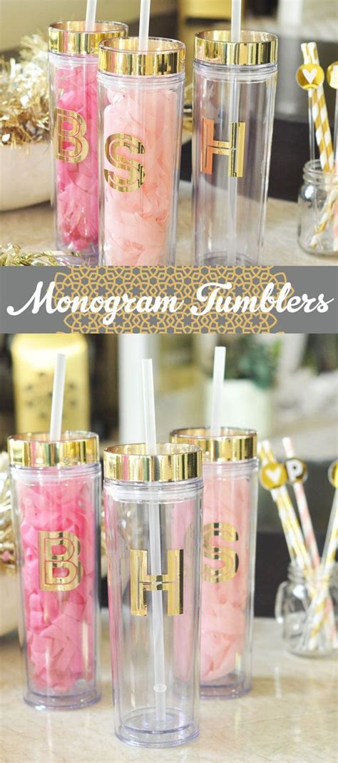 cheap monogrammed tumblers best 20 birthday gifts for ideas on