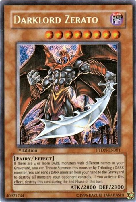 Kartu Yugioh Darklord Ixchel Secret yu gi oh phantom darkness single darklord zerato secret