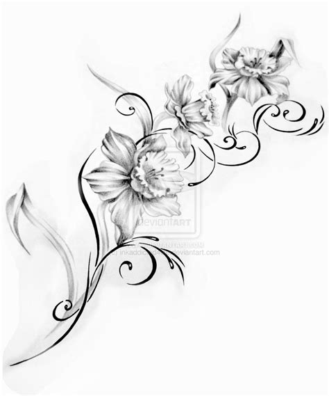 surf flower tattoo designs flower design 2 by inkaddicted4life on deviantart
