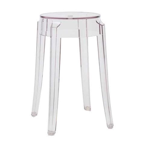 sgabello kartell ghost kartell sgabello charles ghost 46 cm design shop
