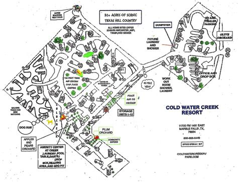 coldwater creek map location and rv park map coldwater creek rv park