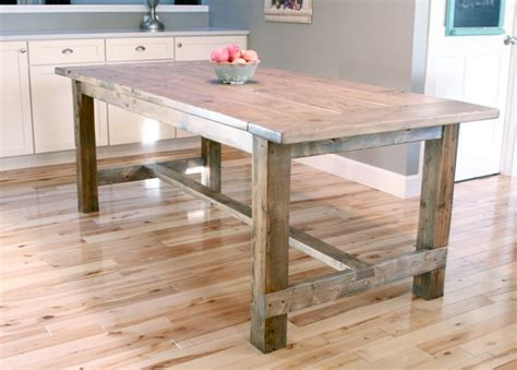 Farmhouse table updated pocket hole plans