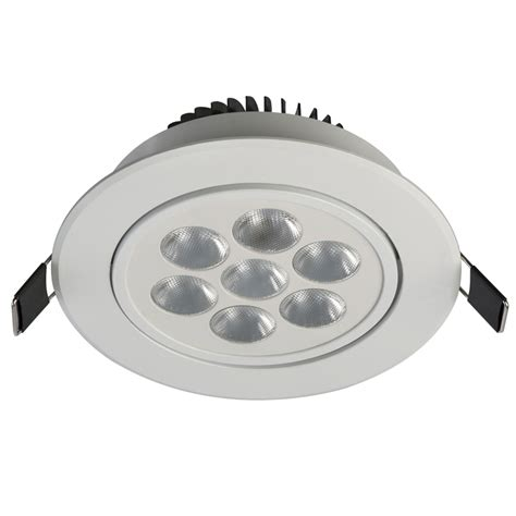 Luxmenn Downlight 7w White deta 7w white finish dimmable gimbal daylight led downlight